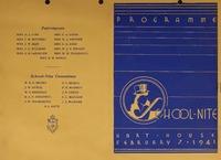 School Nite Program 1941<br /> <br />