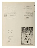 School Nite Program 1933
