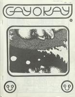 Front page of the January 1971 issue of Gayokay, occasional newsletter fo the University of Toronto Homophile Association.
