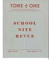 Skule Nite Program 1939