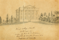 Pencil sketch of King's College by Catherine Beaven