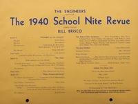 School Nite Program 1940