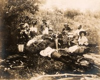 After lunch on Go Home Lake, Aug. 7, 1899