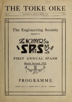 SPASMS Program 1921 <br />