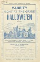 "Programme for ""Varsity Night at the Grand Hallowe'en, 1895."""
