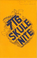 Skule Nite Program 1976