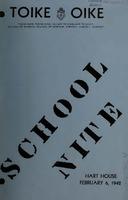 School Nite Program 1942