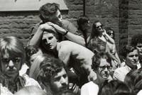 Summer school seminar in the Hart House quad, 1968