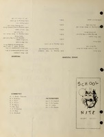School Nite Program 1930