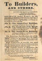 King's College - Notice of tenders, 1840.